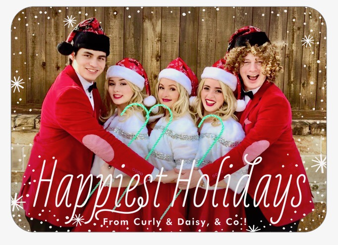 Happiest Holidays from Curly and Daisy & Co.!